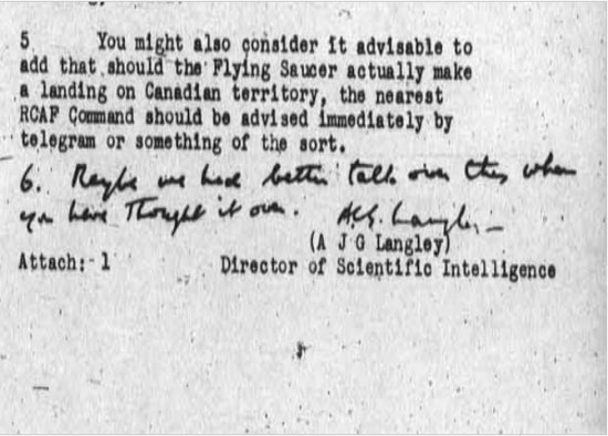 Secret Canadian Government Documents show US/CA UFO