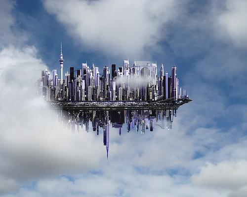 A bustling city in sky seen by many!?