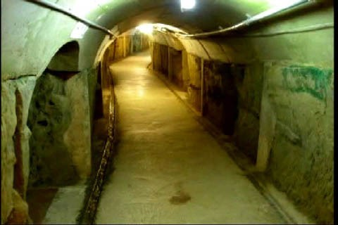 One of the many underground tunnels