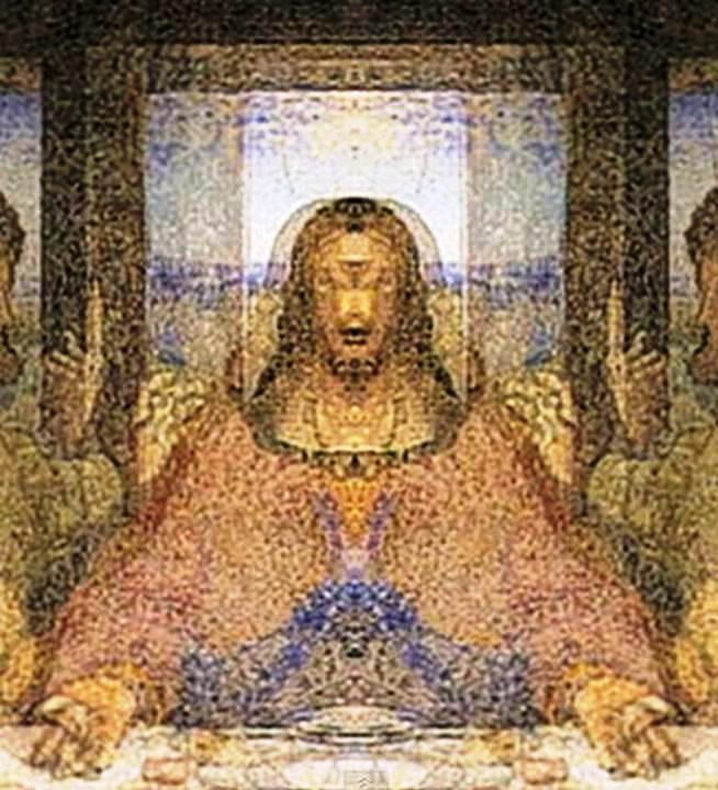 Da Vinci's 'Alien Grey' Image In The Mona Lisa Painting Da Vinci Paintings Secrets
