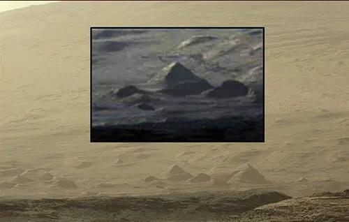 Pyramids on Mars?