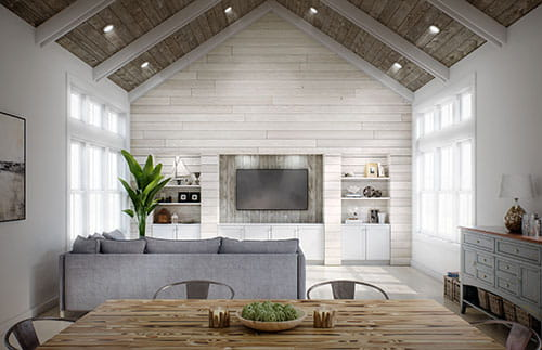 Shiplap Ceiling And Walls