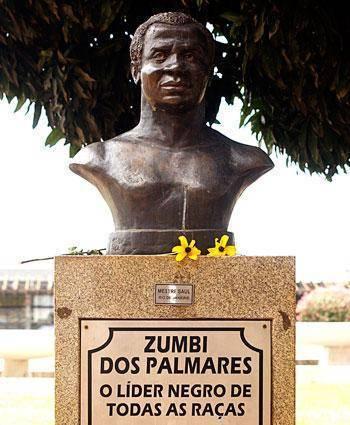 Monumento em Brasília homenageando Zumbi dos Palmares, líder quilombola e um dos maiores símbolos da resistência negra.