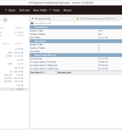 ufs explorer professional recovery screenshot [ 1216 x 739 Pixel ]