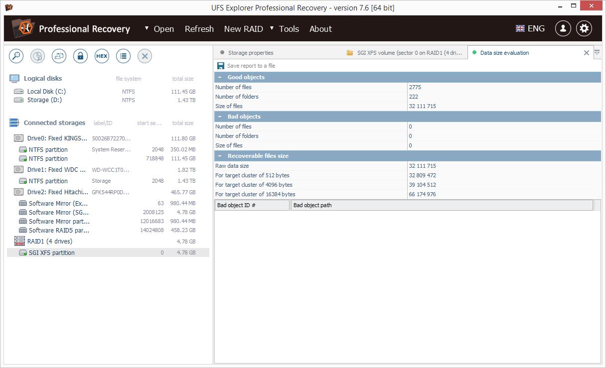 hight resolution of ufs explorer professional recovery screenshot