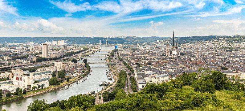 River in Rouen, France
