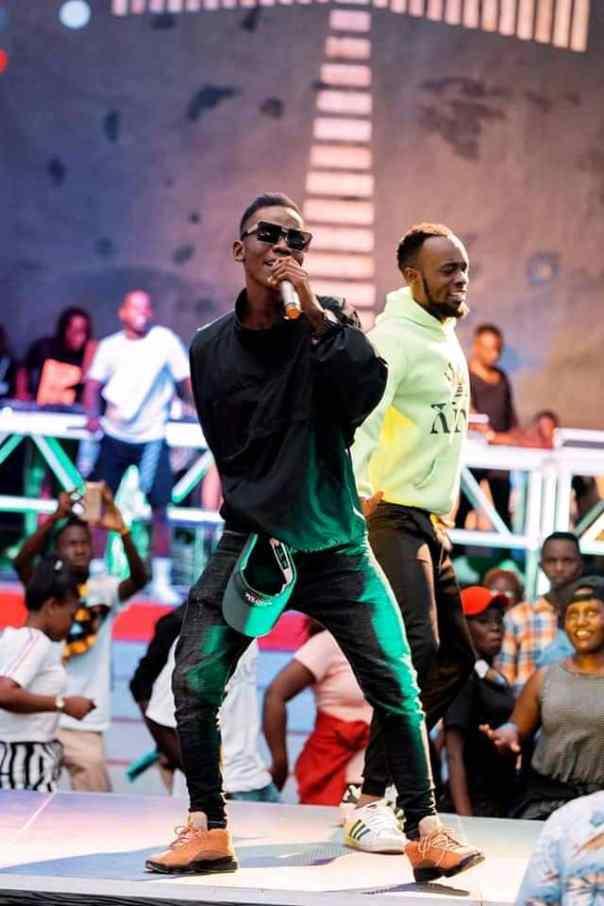 Muwanguzi during one of his stage performances.