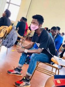 Muwanguzi in a lecture room at UCU.