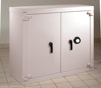 armoire forte basse classe b 2 portes 460 l serrure a disques a brouillage automatique