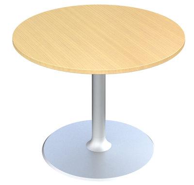 table de reunion ronde 4 places fusion o 110 cm pietement central