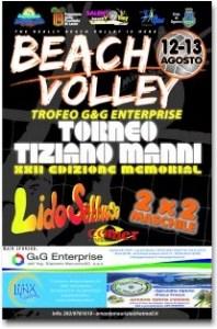 locandina torneo beach volley 2009