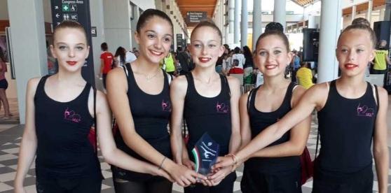 Il quintetto dell'Ugg vince il bronzo al meeting nazionale Ginnastica in festa