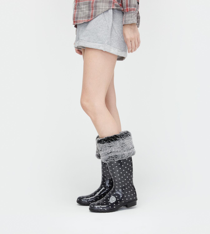 Womens Faux Fur Tall Rain Boot Sock  UGG Official  UGGcom