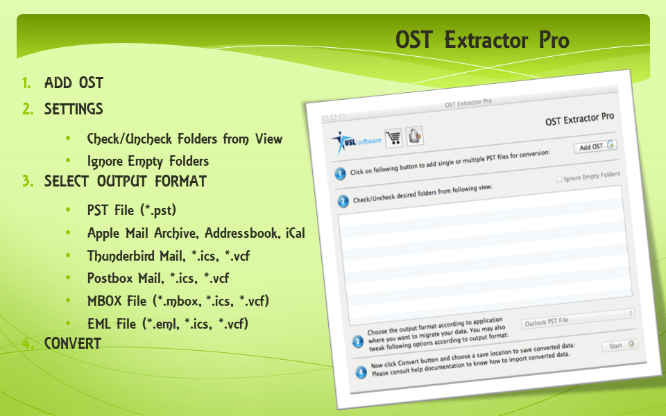 Outlook OST file to Thunderbird