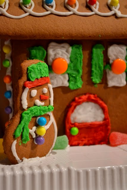 Working on a Winter Wonderland Gingerbread House Ugly