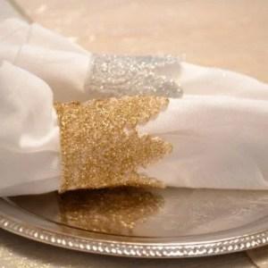 Glitter Lace Napkin Rings