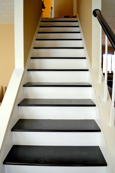 Dueling Diy Adding Color   Black And White Stairs Design   Farmhouse   Photography   Concept   Disappearing   Grey Background