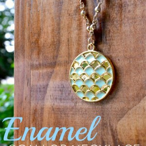 DIY Enamel Scallop Necklace