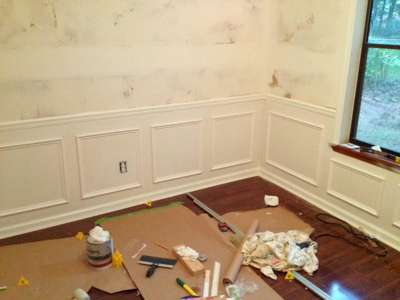 picture frame moulding below chair rail deep seat patio cushions how to install molding an easier diy than you think