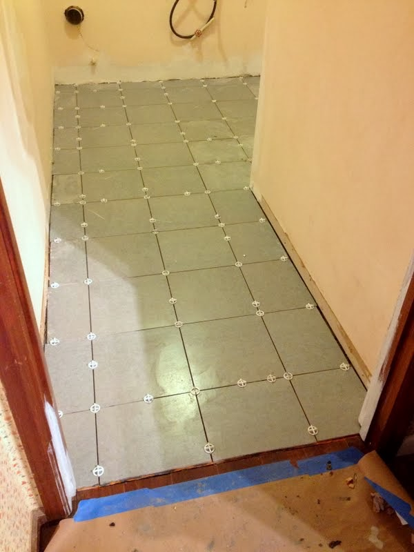 tile layout in an awkward space