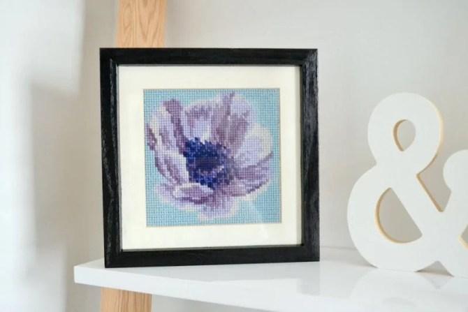 Elizabeth Bradley anemone needlepoint