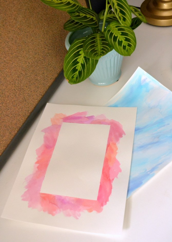 watercolor border DIY howto