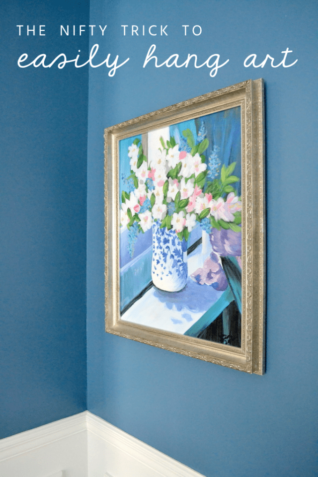 the nifty trick to easily hang art
