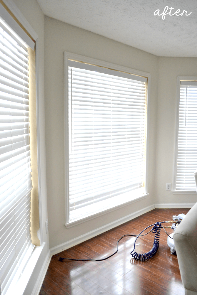 Adding Trim To The Living Room Windows The Ugly Duckling