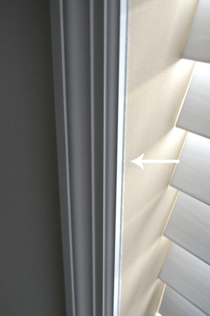 window casing edge