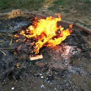 Fall Bonfires (and Getting Rid of a Stump)