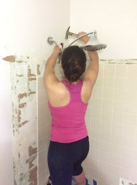 Tips on How to Remove Old Shower Tile  Ugly Duckling House
