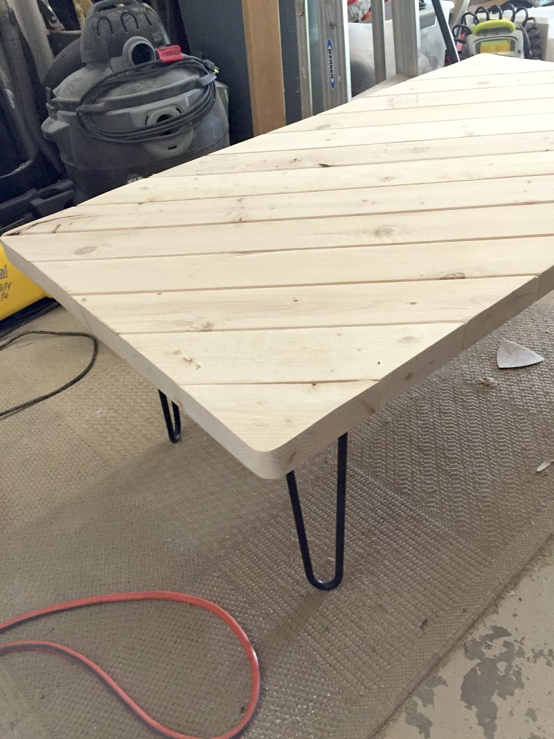 My 15 Minute Diy Hairpin Leg Coffee Table Ugly Duckling House