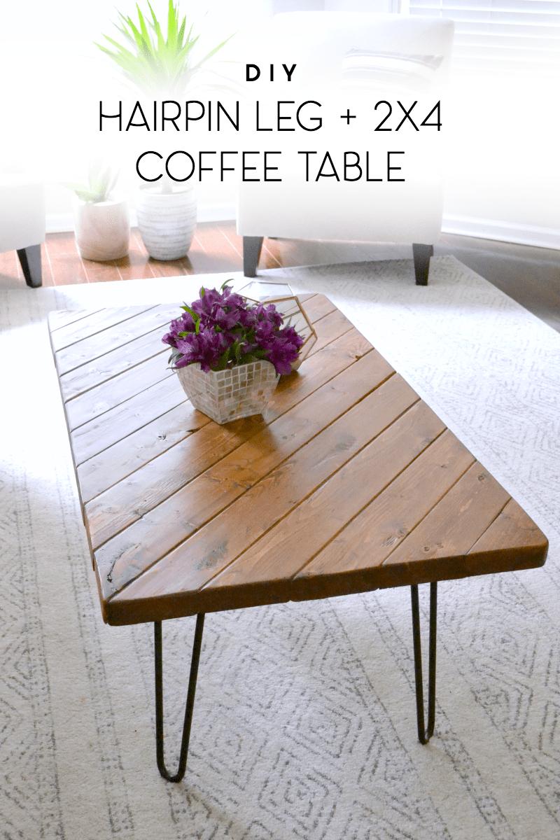 15 minute diy hairpin leg coffee table