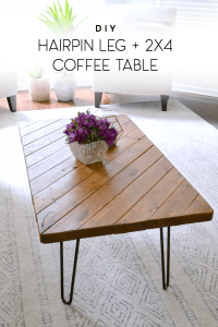 My 15-Minute DIY Hairpin Leg Coffee Table  Ugly Duckling ...