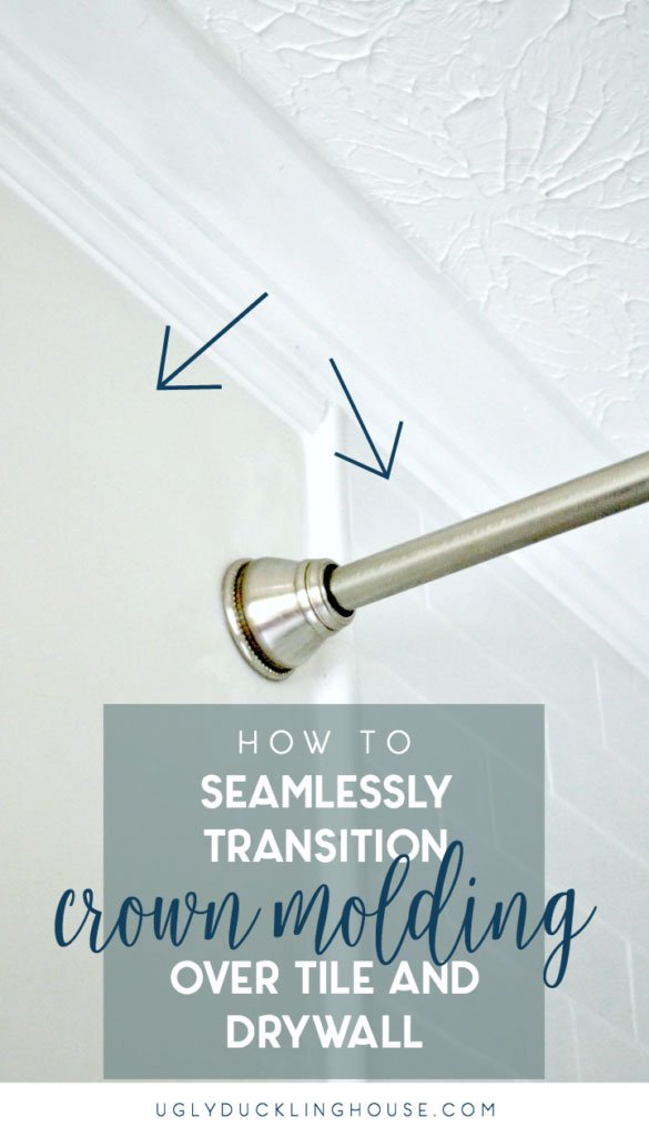 seamlessly transition crown molding