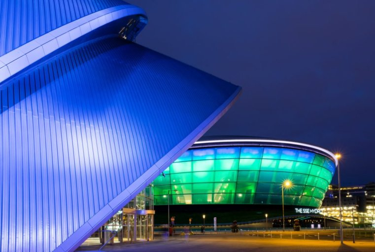 The Clyde Auditorium and the Scottish Exhibition and Conference Centre, Glasgow, Scotland