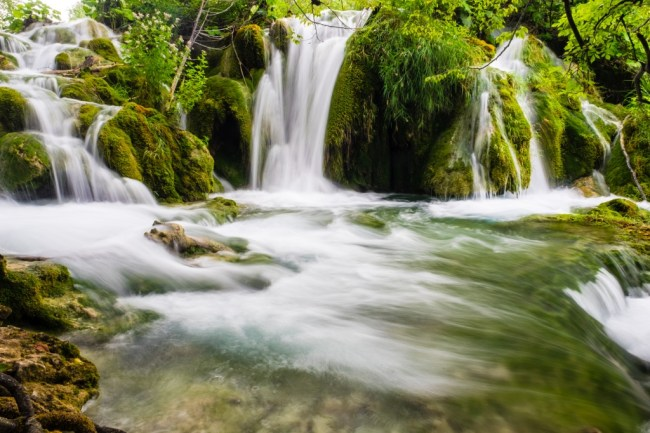 Waterfalls in Plitvice Lakes NP
