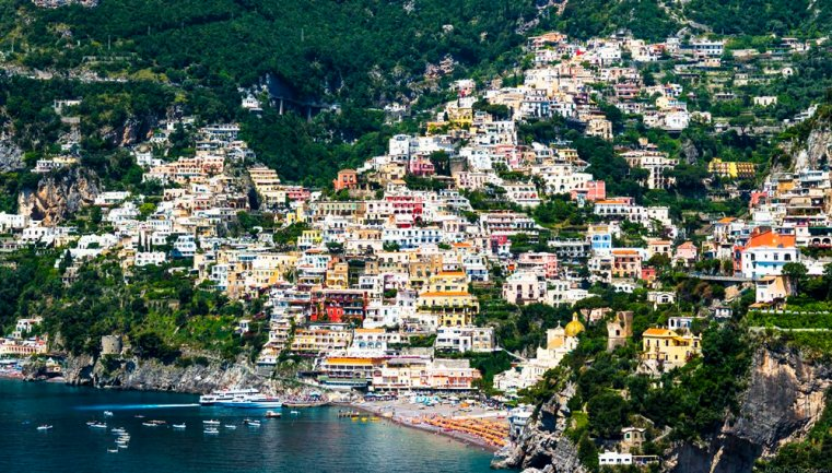 Positano from the ACH