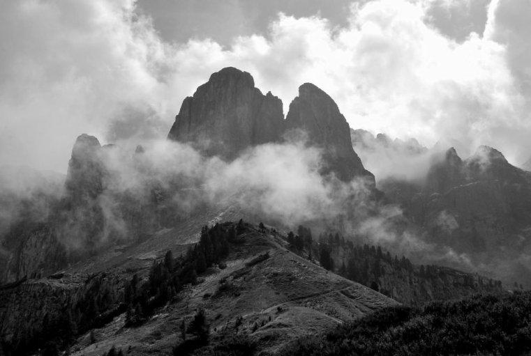 Sella Cliffs, Italian Dolomites © Bethany Lloyd
