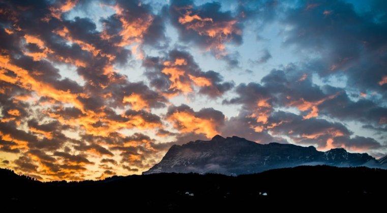Sunrise over Fanes, Alta Badia