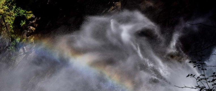 Rainbow in the mist at Krimml Falls, Hohe Tauern