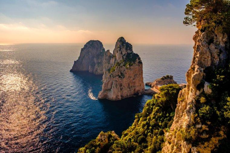 Faraglioni of Capri in harsh light