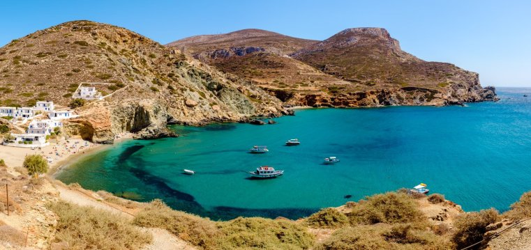 Agkali Cove, Folegandros, Greece