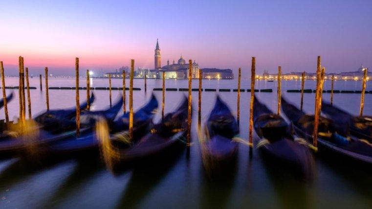 Gondolas in St. Mark's Square, Venice