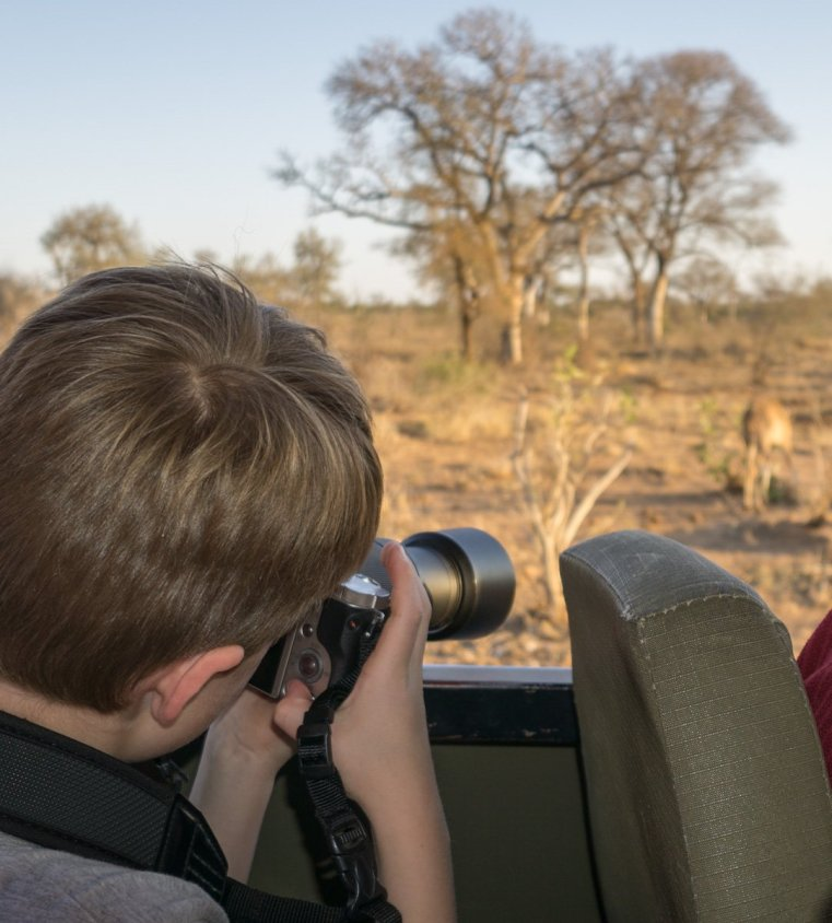 Even 7 year olds can successfully use a telephoto lens on safari!