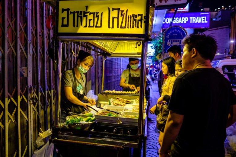 Street food cart. Yaowarat Road, Chinatown, Bangkok