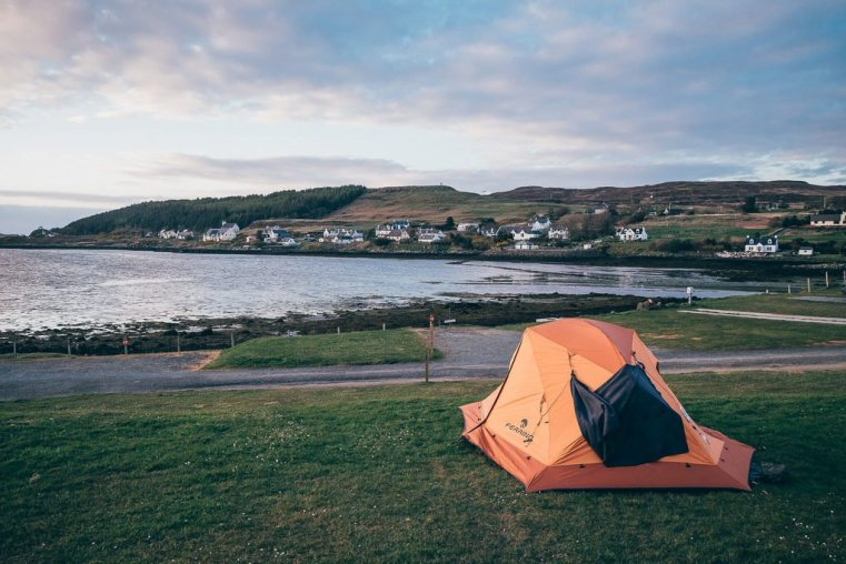 The Kinloch campsite in Dunvegan