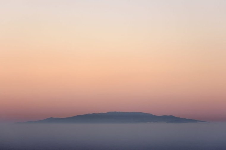 Ios as seen from  Santorini, Greece