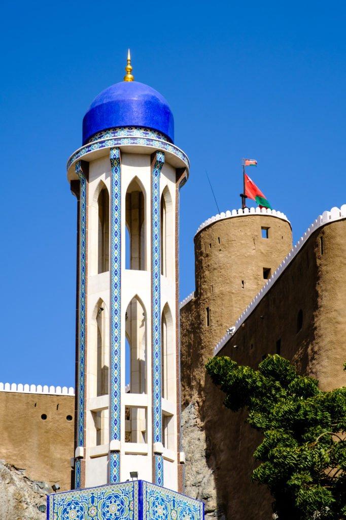 Al Khor Mosque and Mirani Fort, Muscat, Oman