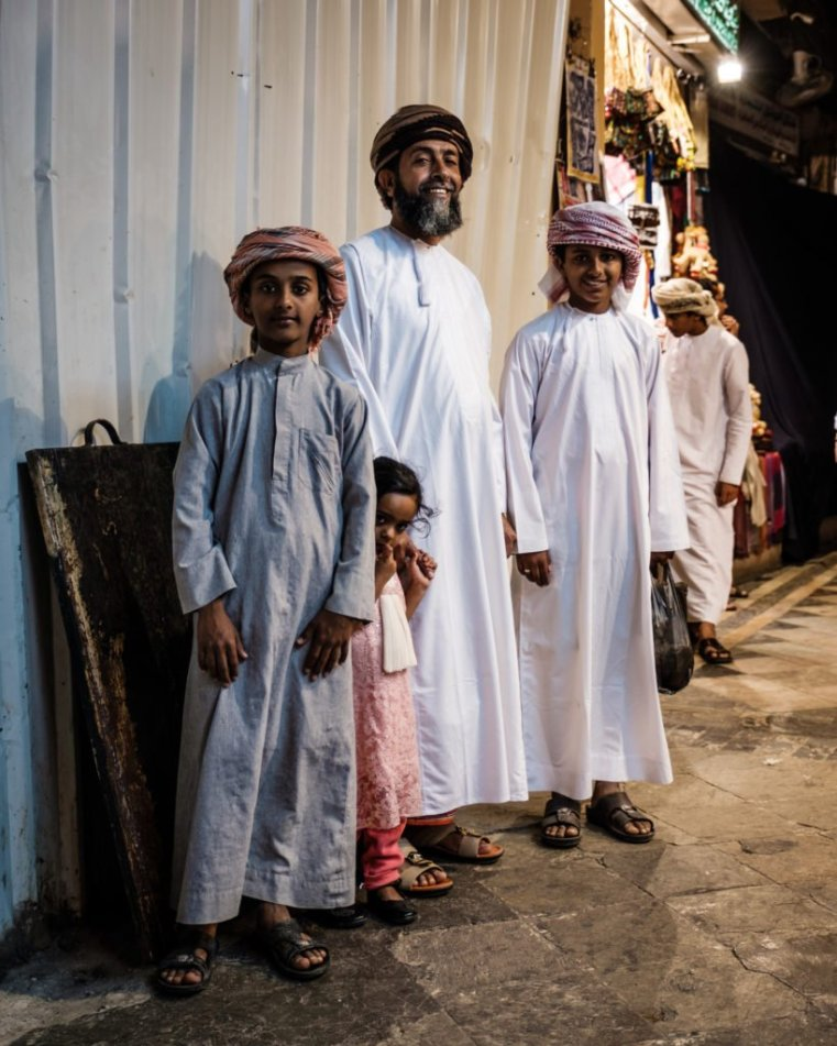 Omani Family at the Muttrah Souk, Muscat, Oman